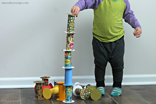 Toilet Paper Roll Building Blocks