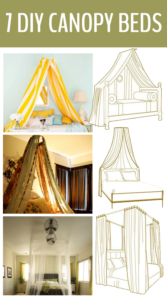 7 diy canopy beds - How to decorate a canopy bed ...