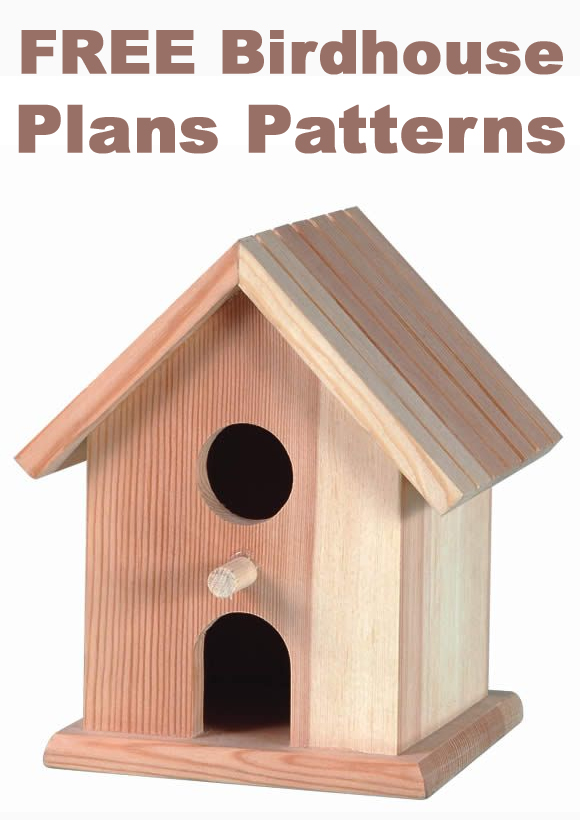 Sears sheds wood free diy birdhouse plans for Types of birdhouses for birds