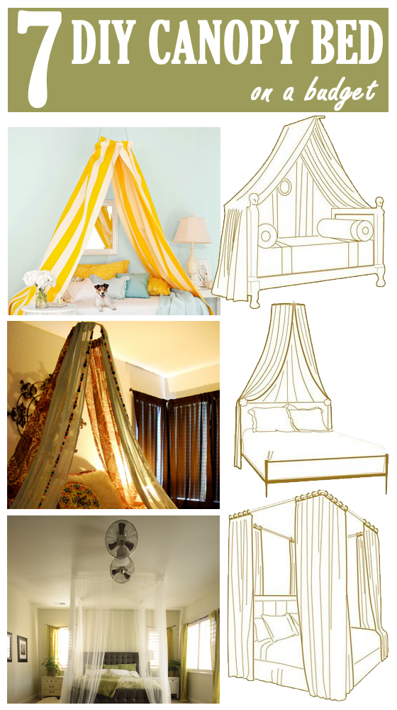Romantic Canopy Bed Ideas 7 diy canopy bed on a budget