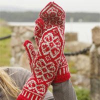Knitting Pattern For Christmas Rose : 10 CUTE Knitted Christmas Socks and Gloves with Free Patterns