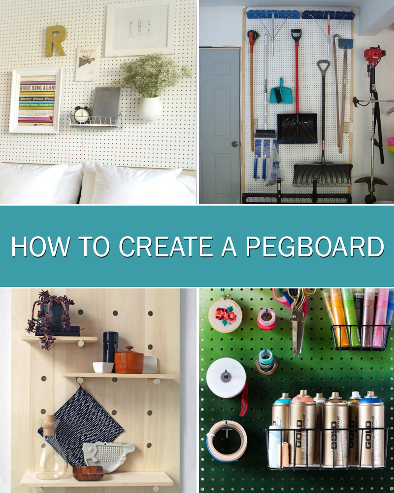 How To Create A Pegboard Storage Wall For Craft Rooms, Offices Or Garages
