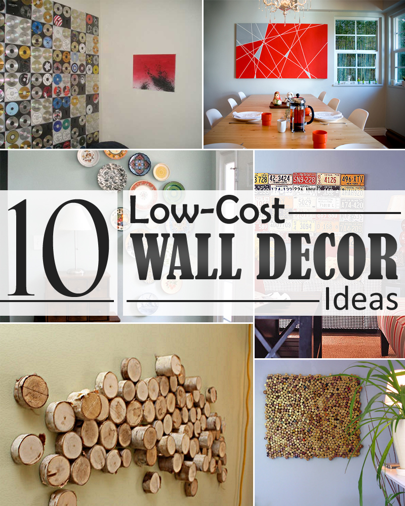 10 low cost wall decor ideas that completely transform the for Low cost living room design ideas