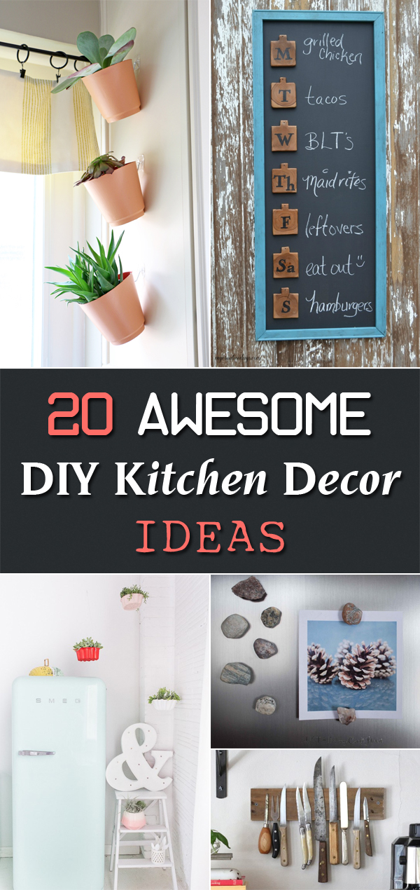 20 awesome diy kitchen decor ideas. Black Bedroom Furniture Sets. Home Design Ideas