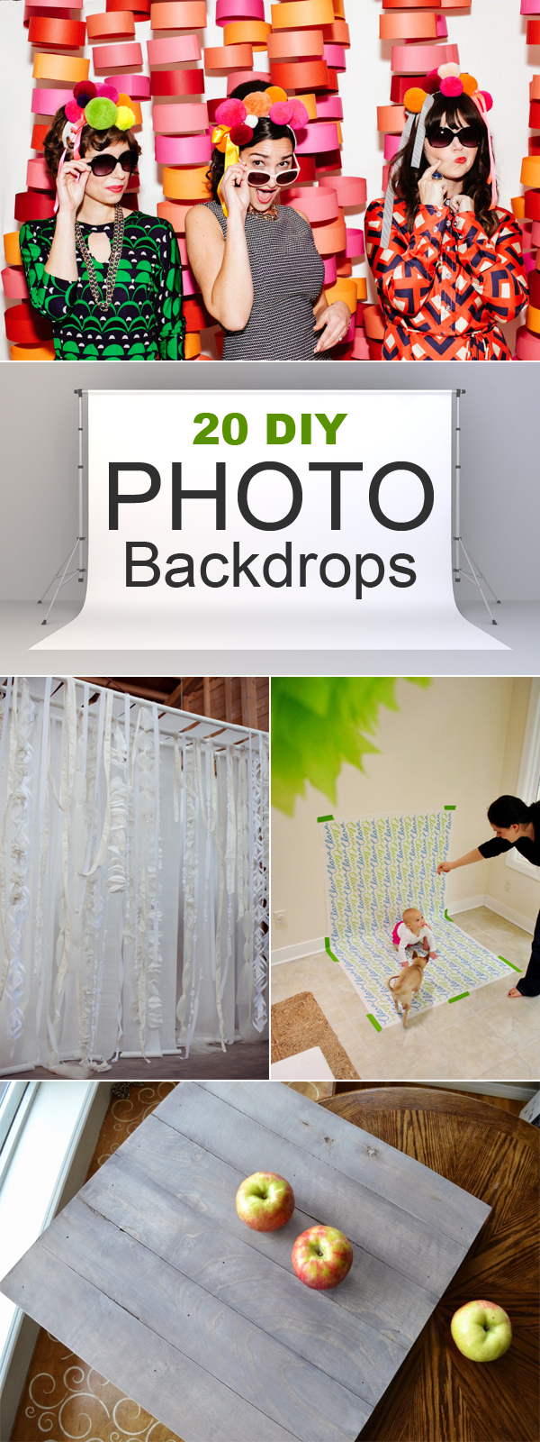 20 DIY Photo Backdrops That Will Make Your Photos Beautiful