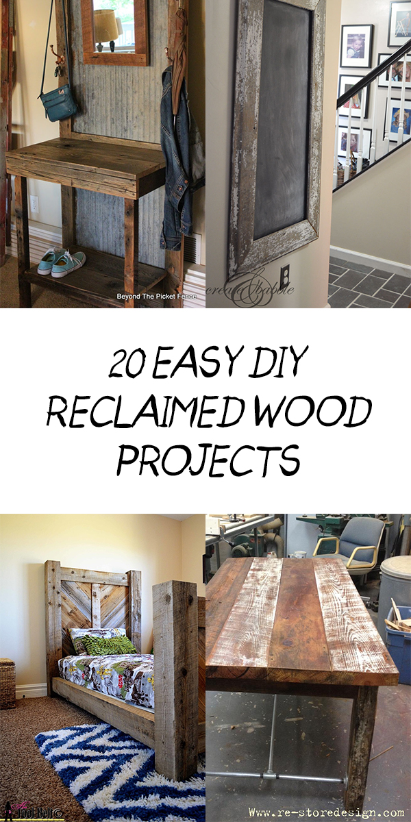 20 Easy DIY Reclaimed Wood Projects for Your Home