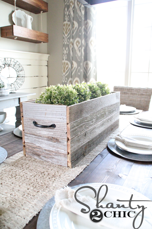 Barn Wood Planter Box