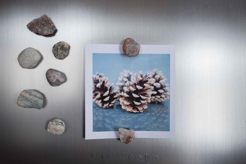 DIY Earthy Rock Fridge Magnets
