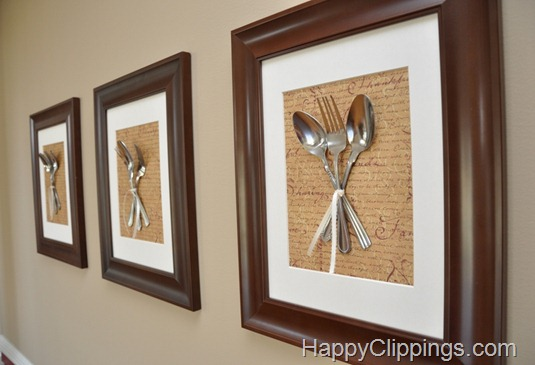 DIY Silverware Wall Art