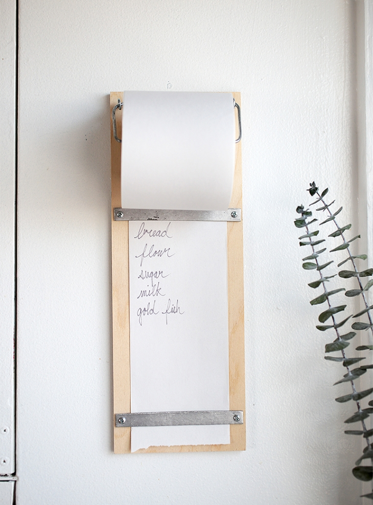DIY Wood Shopping List Pad