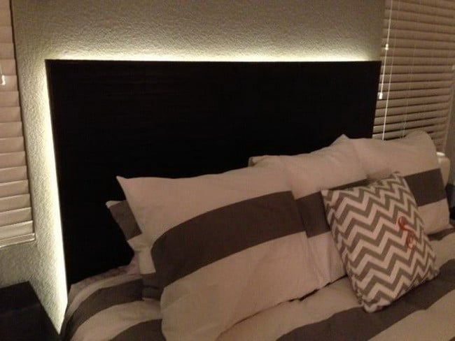 Floating Headboard With LED Lighting