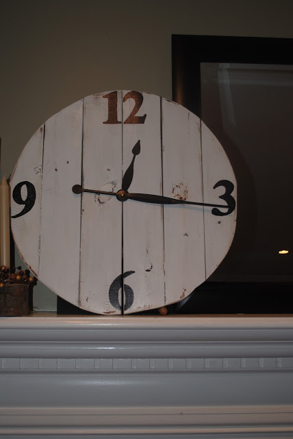 Large DIY Wood Clock from Fence Posts