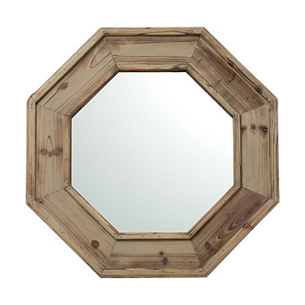 Reclaimed Wood Octagon Mirror
