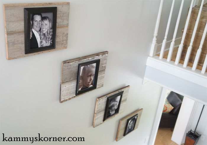 Reclaimed Wood Photo Frames