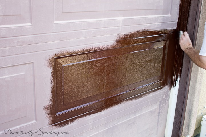 Update Garage Door With Gel Stain