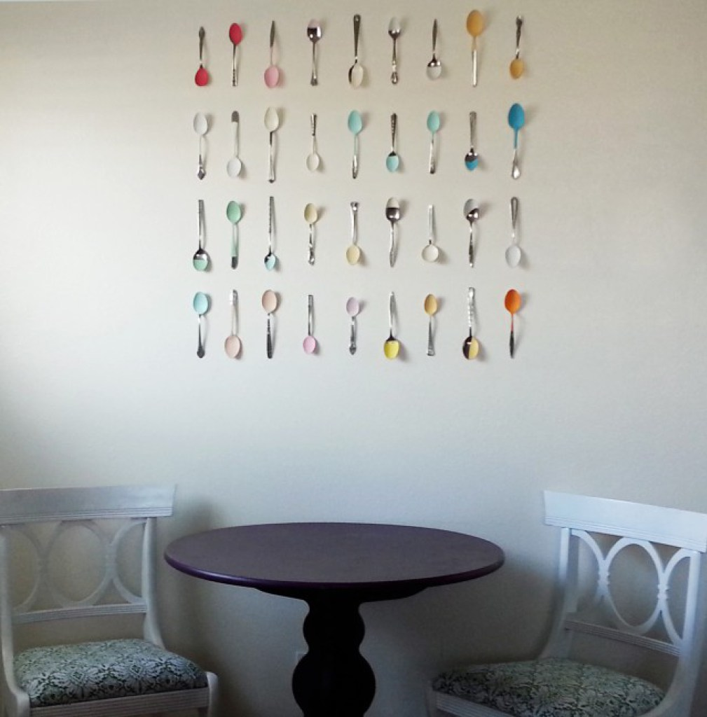 Wall Art with Painted Spoons