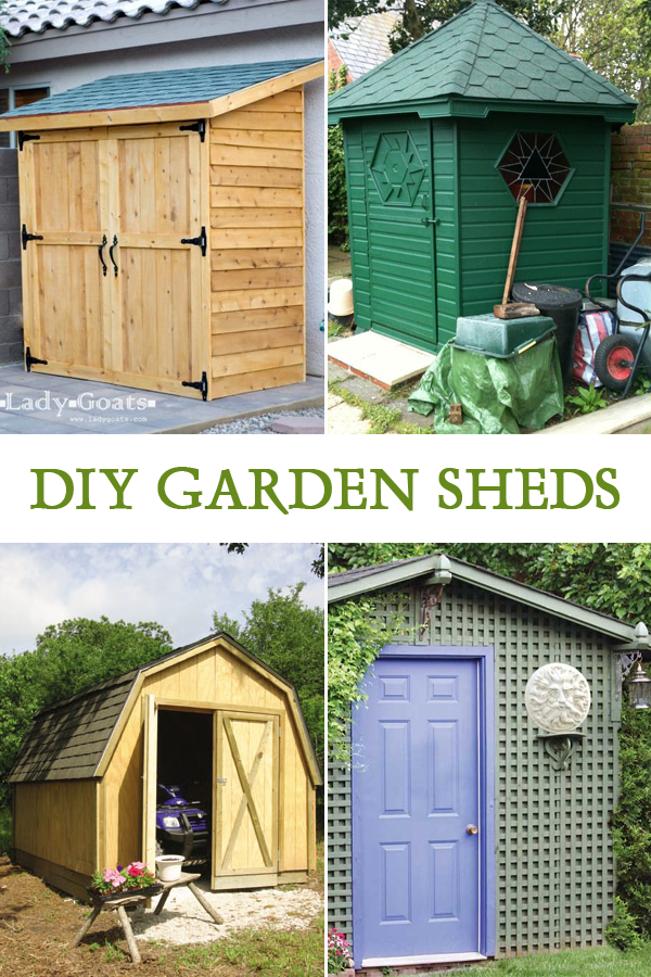 10 Easy DIY Garden Sheds You Can Make Yourself