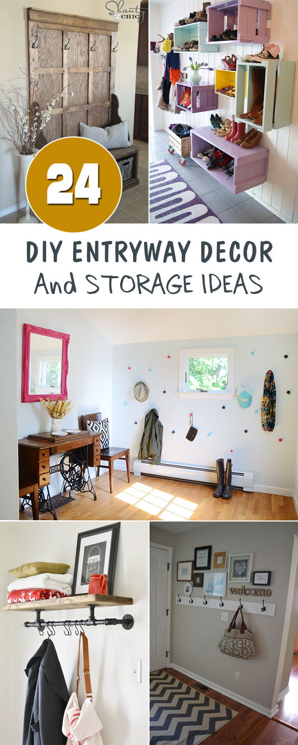24 diy entryway decor and storage ideas - Entryway Decor