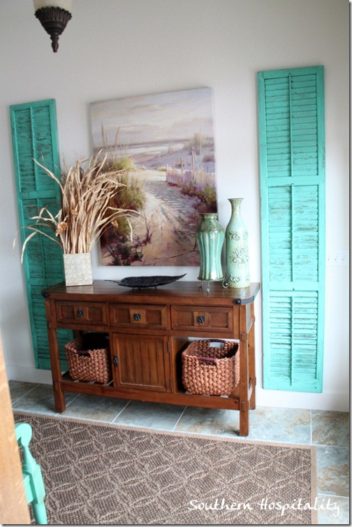 Add a Pop of Color with Repurposed Shutters