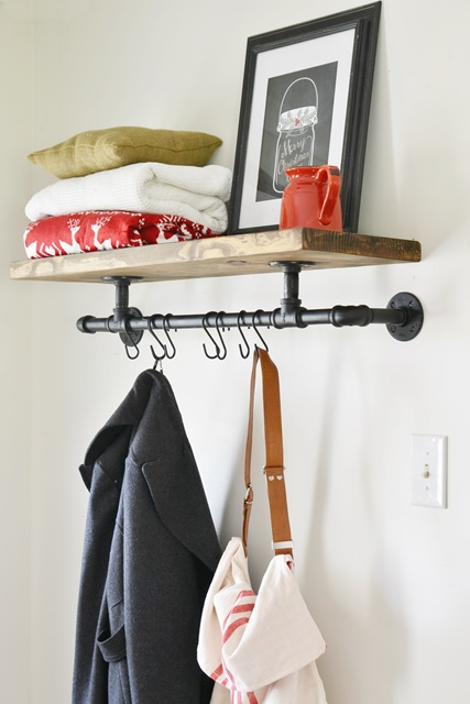 Entryway Industrial Coat Rack