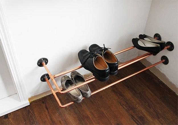 Floating Copper Shoe Rack