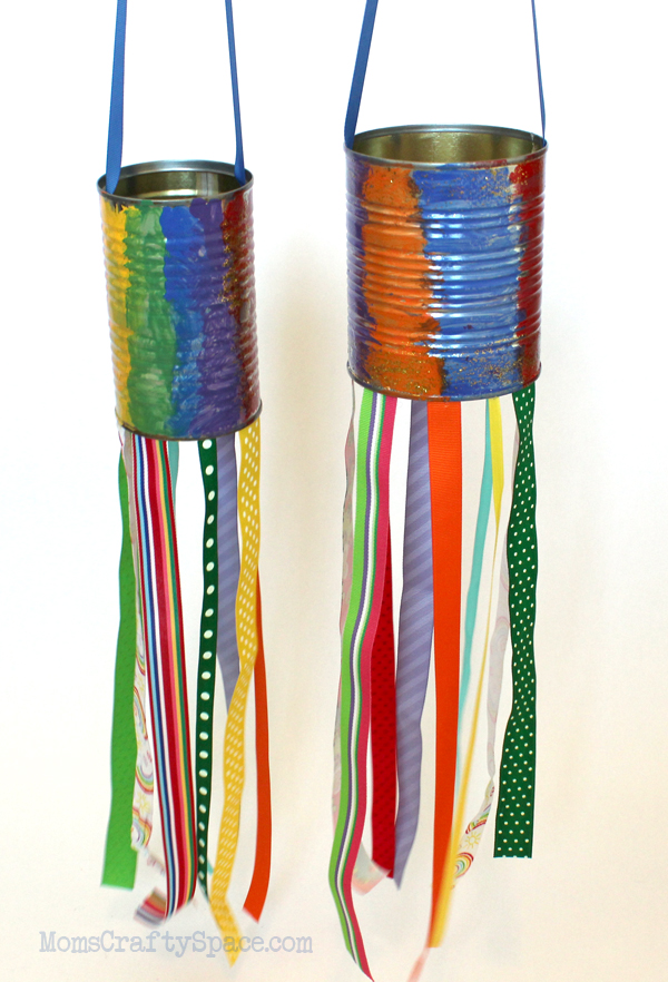 Make windsocks from tin cans
