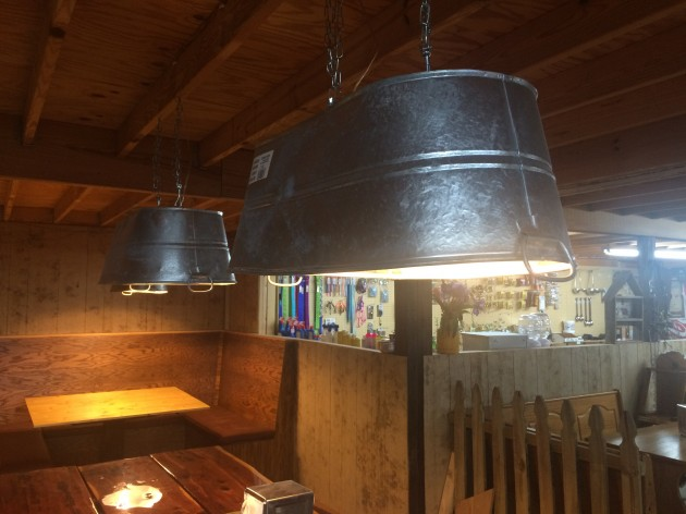 Repurpose a galvanized tub as a modern pendant light fixture