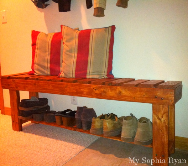 Rustic Bench From Wood Pallets