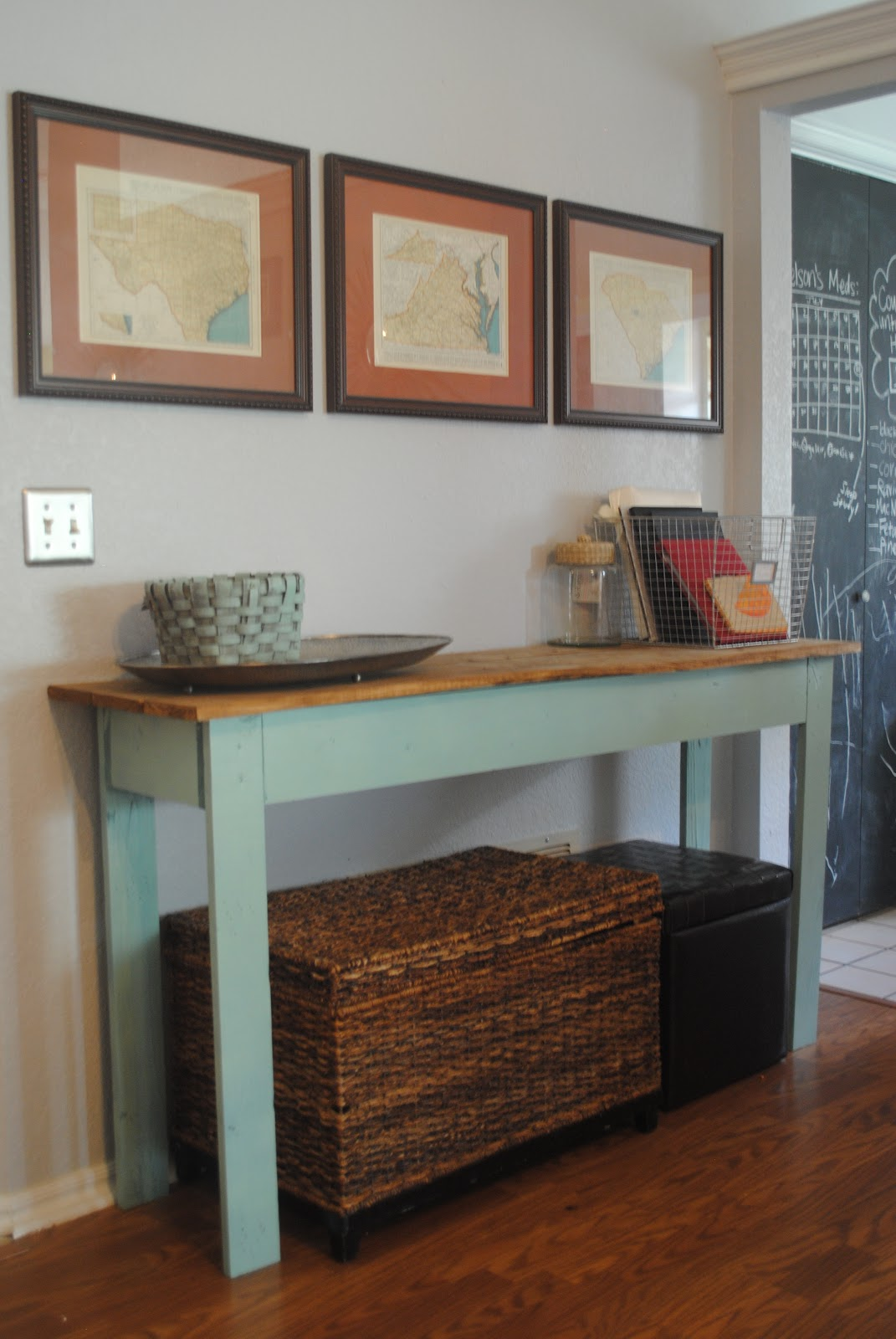 Scrap Wood Console Table