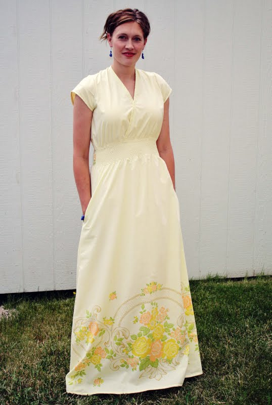 Vintage Sheet to Maxi Dress