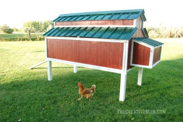 big red chicken coop