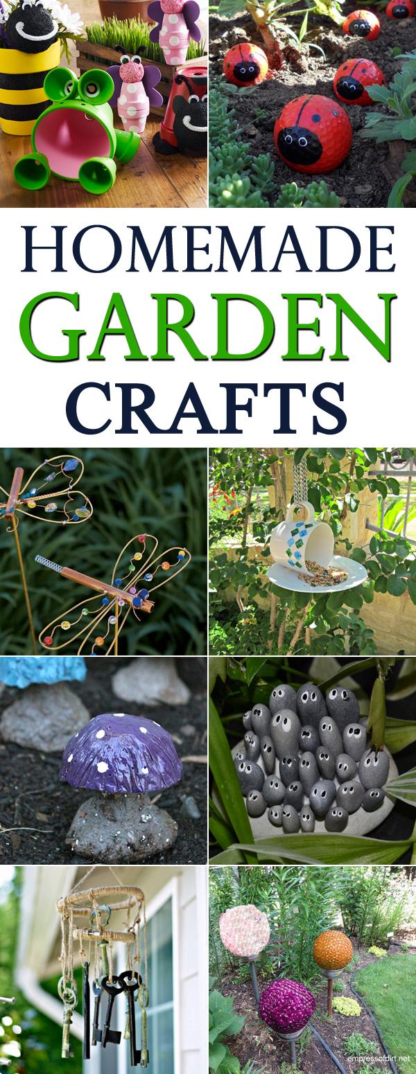 16 Homemade Garden Crafts You Will Love