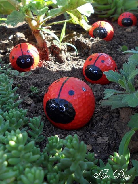 DIY Cute Golf Ball Ladybugs