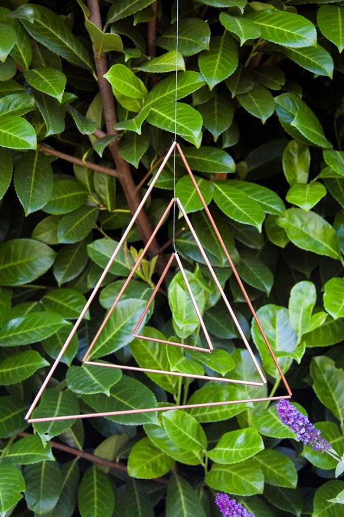 Make a Copper Triangle Mobile