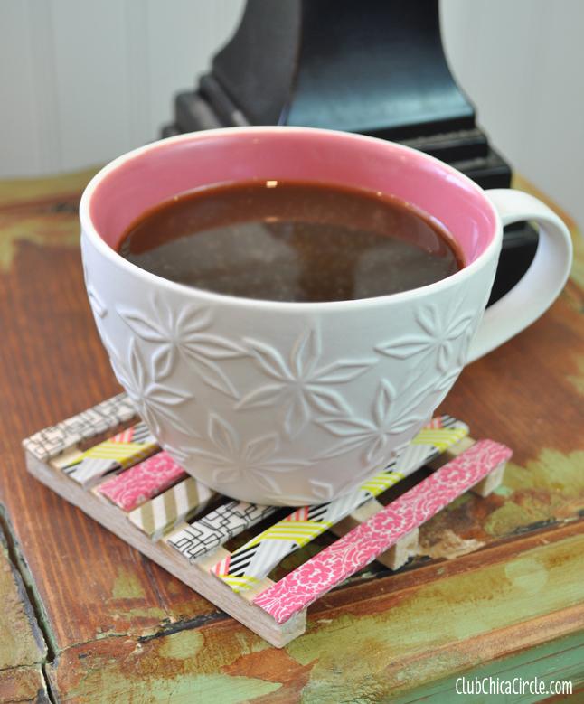 1 Washi Tape Mini Wood Pallet Coasters