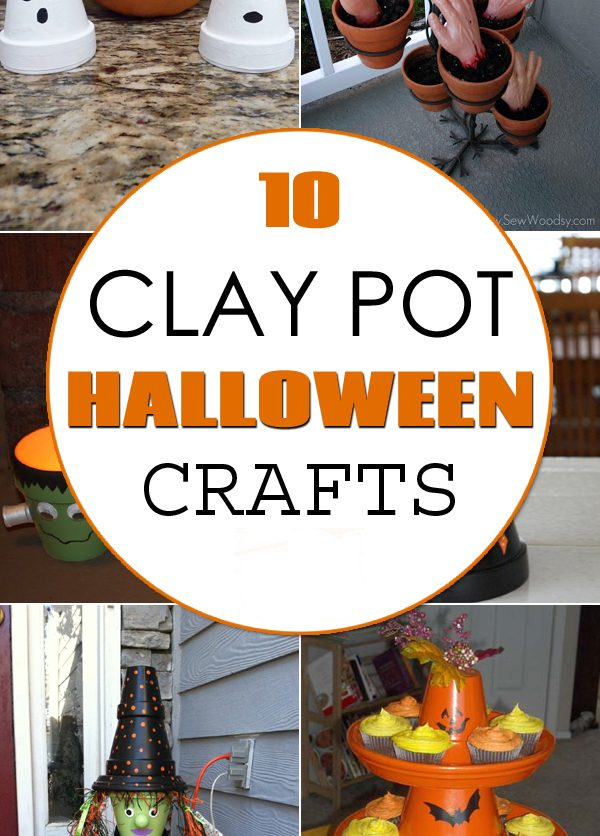 10 Awesome Clay Pot Halloween Crafts