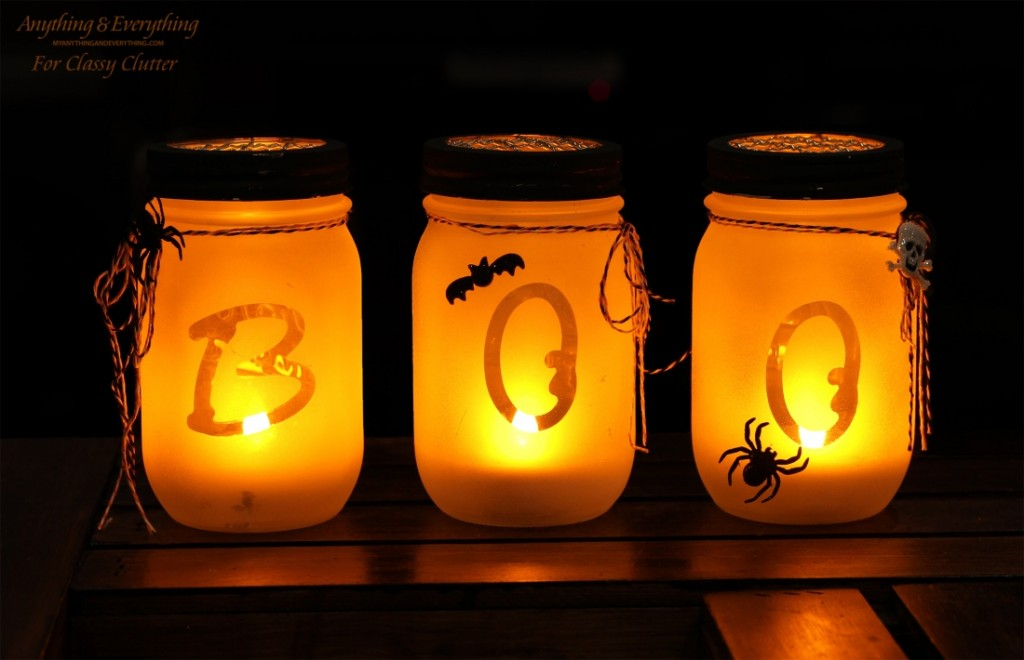 Halloween Mason Jar Luminarias