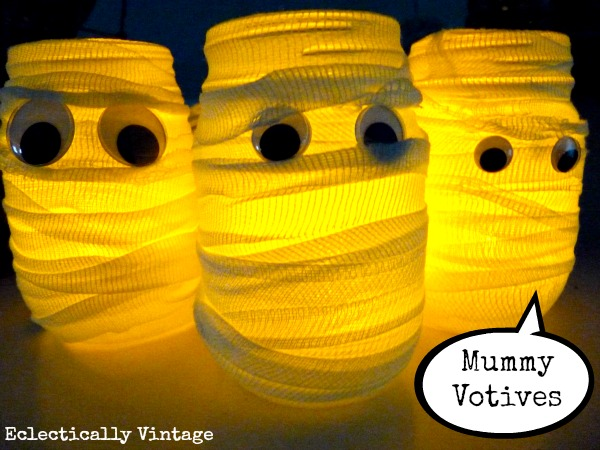 Halloween Mummy Votives