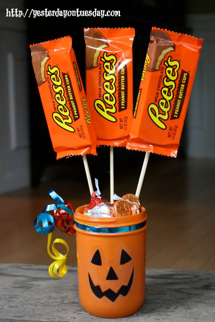 Pumpkin Candy Vase