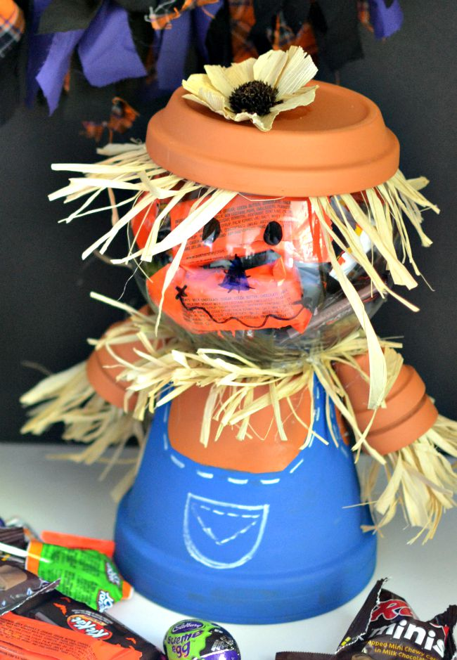 Terracotta Pot Scarecrow