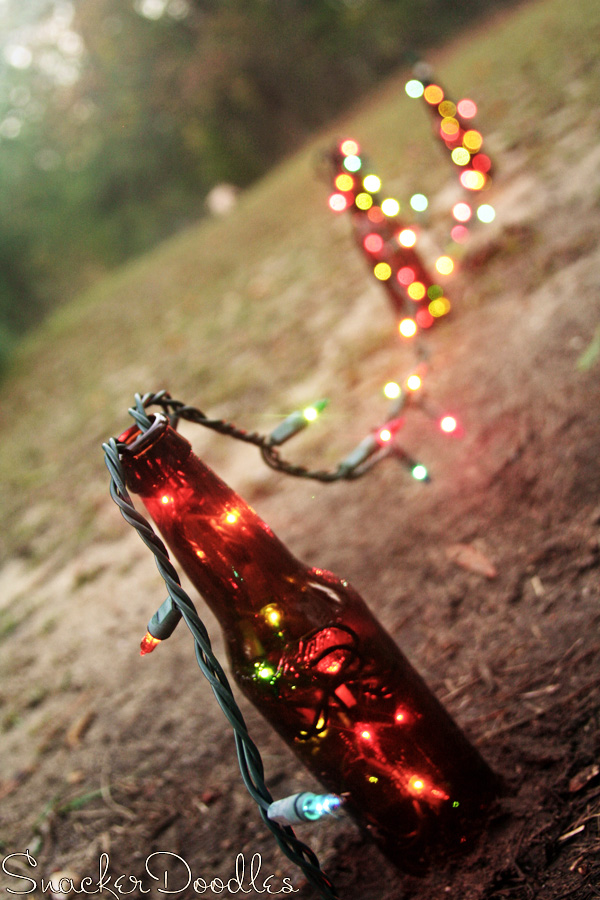 beer bottle christmas lights - Homemade Outdoor Christmas Light Decorations