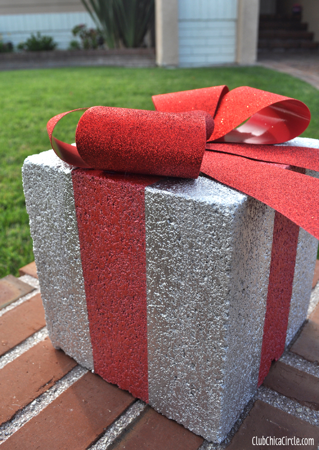 Cement Block Christmas Presents