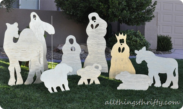 Christmas Yard Nativity Set