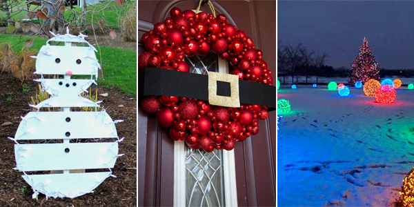 18 easy and cheap diy outdoor christmas decoration ideas - Christmas Pool Decorations