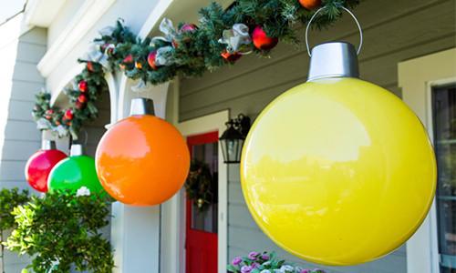 giant Christmas ornaments