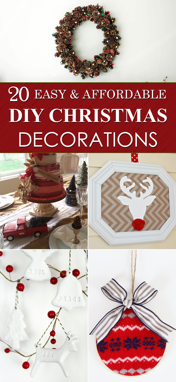 20 easy and affordable diy christmas decorations
