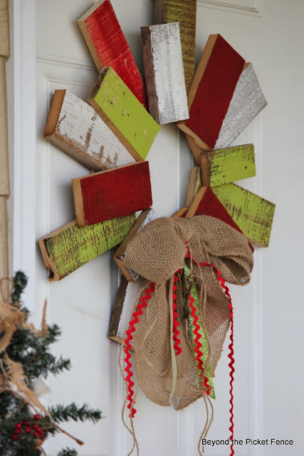 scrappy wreath