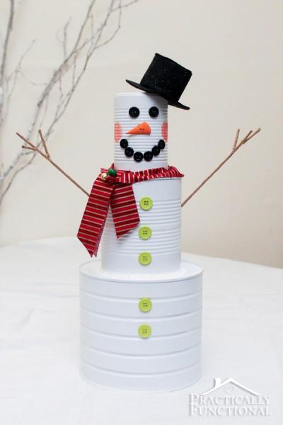 Tin Can Snowman