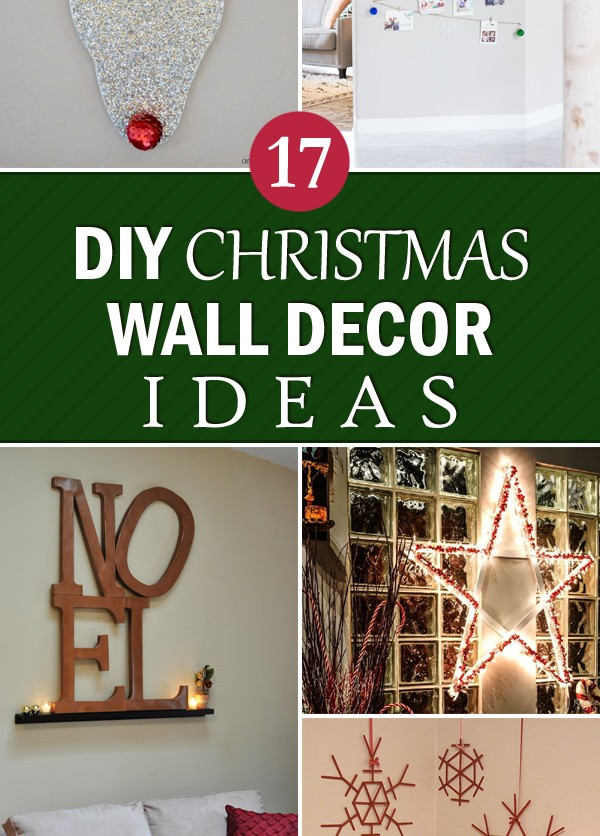 17 creative diy christmas wall decor ideas - Christmas Wall Decoration Ideas