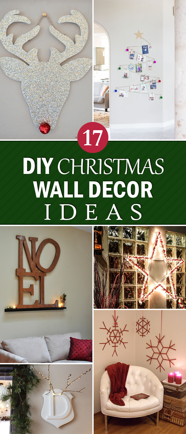 17 creative diy christmas wall decor ideas Creative wall decor ideas